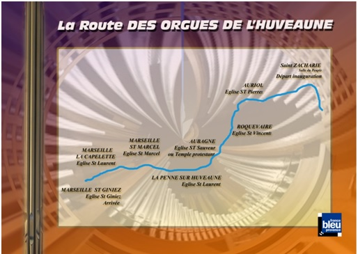 La route des orgues de l'Huveaune